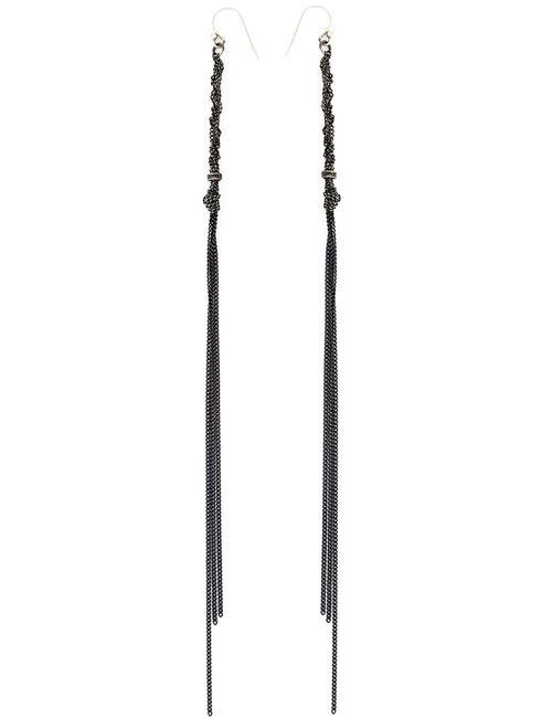 Ann Demeulemeester | Женское Серебристый Long Chain Drop Earrings