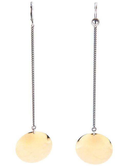 Ann Demeulemeester | Женское Серебристый Camera Lenses Drop Earrings