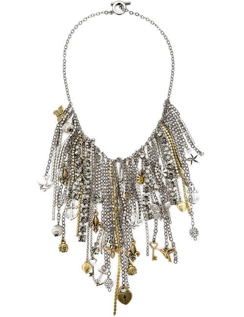 Vera Wang | Женское Серый Chain And Charms Necklace