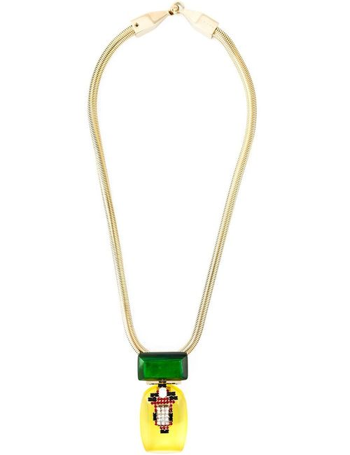 Marni | Женское Желтый Embellished Necklace