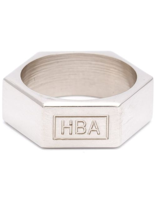 HOOD BY AIR | Мужское Серый Octagon Logo Ring