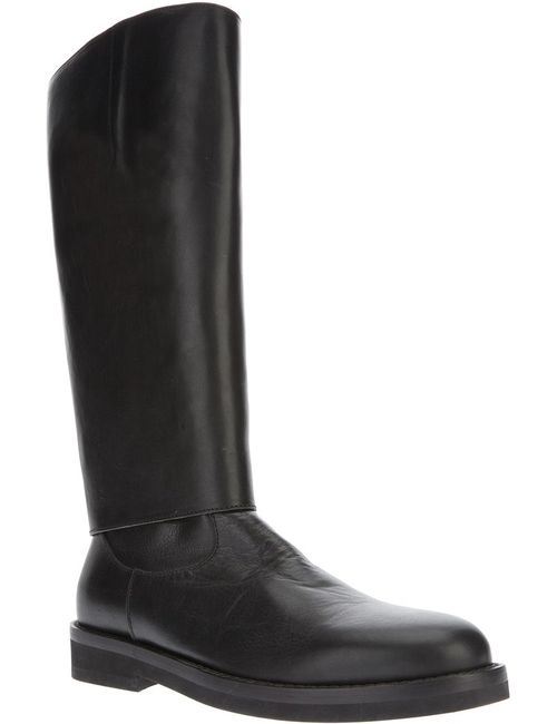 Ann Demeulemeester | Мужские Чёрные Массивные Высокие Ботинки