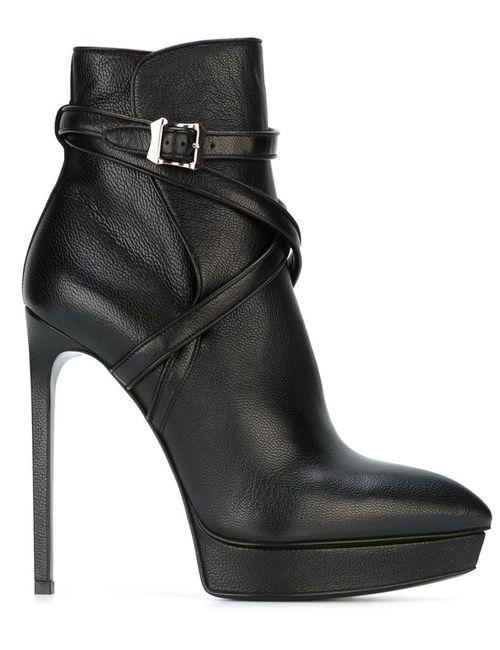 Saint Laurent | Женские Чёрные Ботинки Janis 105