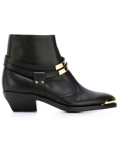 Balmain | Женские Чёрные Ботинки По Щиколотку
