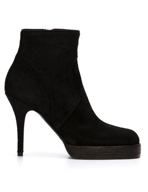 Rick Owens | Женские Чёрные Ботинки По Щиколотку На Шпильке