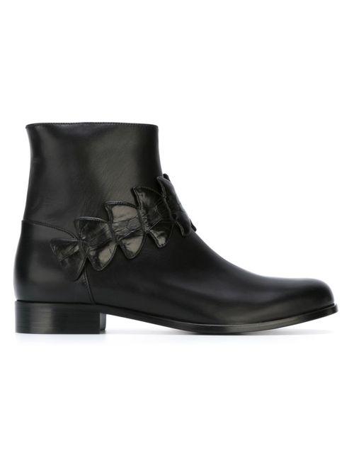 Fendi   Женское Черный Crocodile Effect Detail Ankle Boots