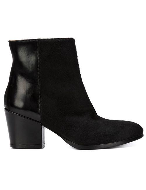 BUTTERO® | Женские Чёрные Ботинки По Щиколотку На Массивном Каблуке