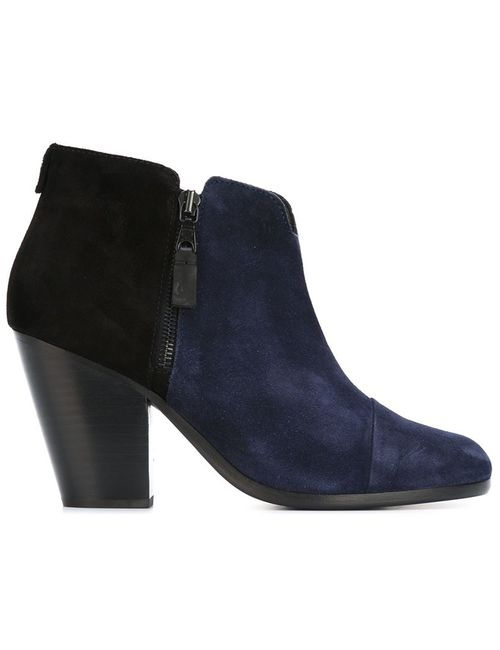 Rag & Bone | Синий Panelled Ankle Boots