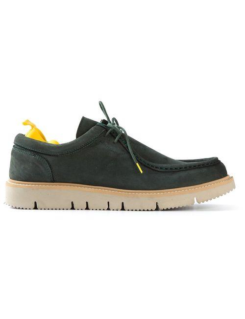 PULCHRUM | Мужские Зелёные Ботинки На Шнуровке Arrigo Nabuk