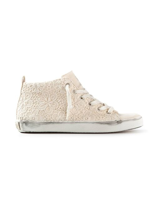 Leather Crown | Женское Embroidered Hi-Top Trainer