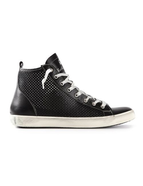 Leather Crown | Женское Чёрный Hi-Top Trainer