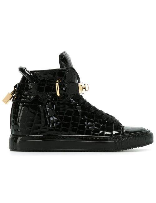 Buscemi | Женское Черный Embossed Wedge Sneakers