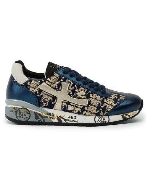 Premiata   Синий Panelled Low-Top Sneakers