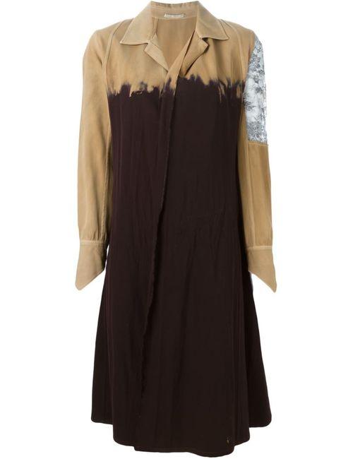 YOHJI YAMAMOTO VINTAGE | Коричневый Bleached Coat Dress