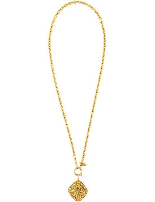 Chanel Vintage | Серебристый Chinoiserie Pendant Necklace