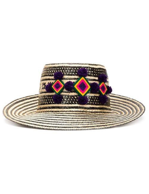 YOSUZI | Женская Чёрная Шляпа Jolu С Широкими Полями