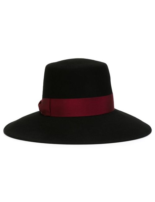Borsalino | Женская Чёрная Фетровая Шляпа С Контрастной Лентой