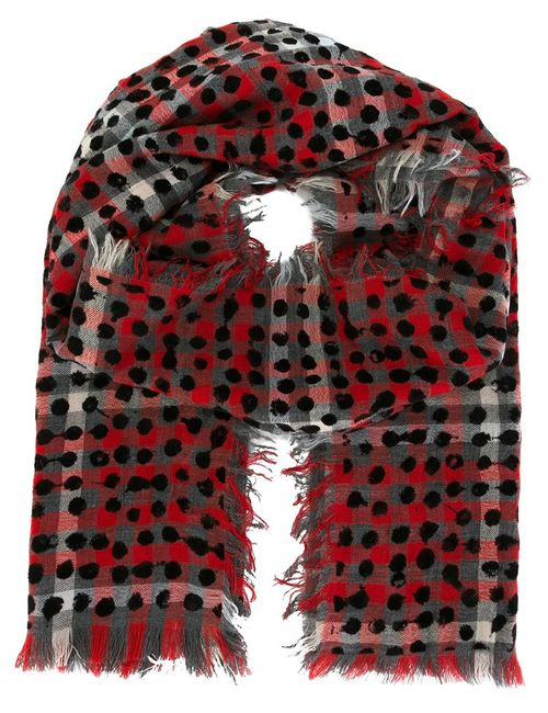 Marc by Marc Jacobs | Женское Красный Checked Dotted Scarf