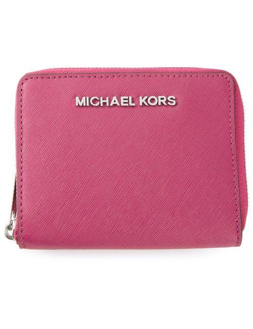Michael Kors | Женская Розовая Кошелку На Молнии Jet Set Travel