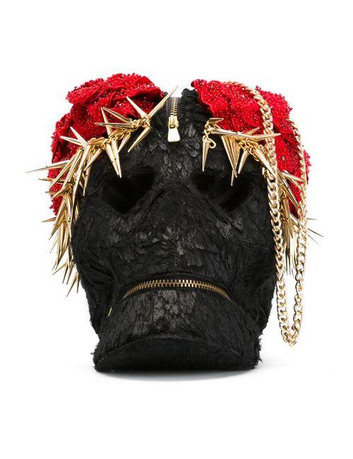 Manish Arora | Женское Чёрный Embellished Skull Clutch