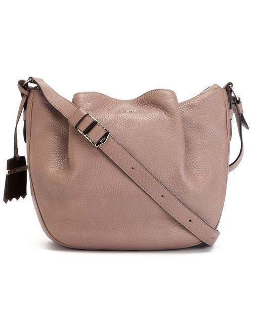 Tod'S   Женское Серый Flower Shoulder Bag