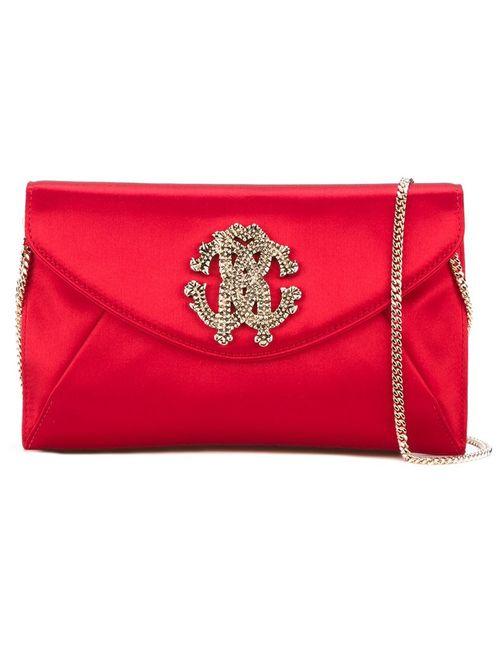 Roberto Cavalli | Женская Красная Сумка-Конверт На Плечо С Логотипом