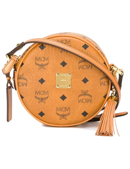 MCM | Женское Nude & Neutrals Logo Round-Shaped Box Bag