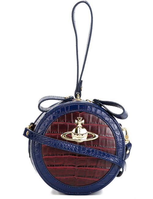 Vivienne Westwood Anglomania   Женская Синяя Сумка На Плечо Круглой Формы