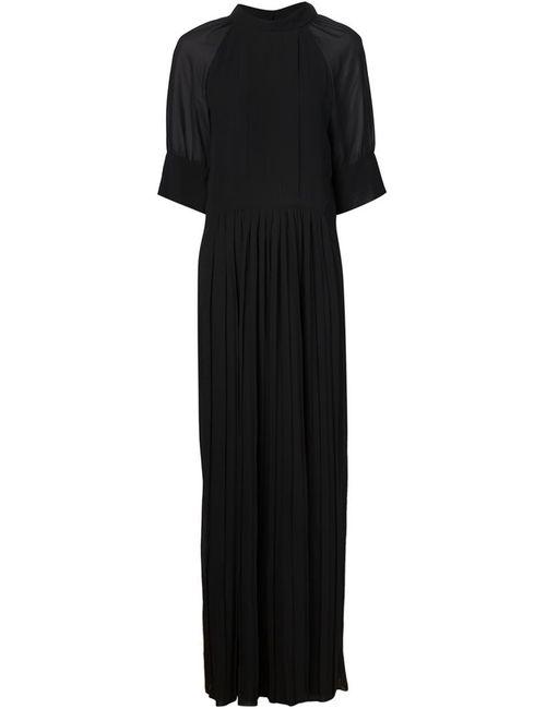 Vera Wang | Женское Чёрный Pleated Sheer Jumpsuit