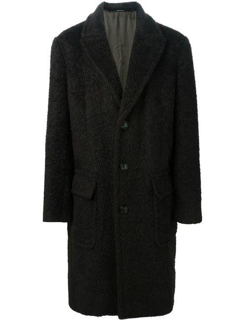 Dolce & Gabbana | Мужское Коричневое Однобортное Пальто