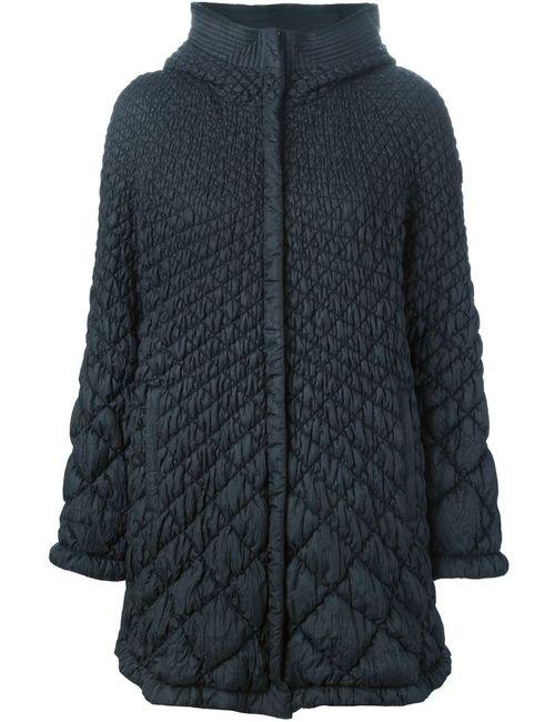 Ermanno Scervino | Женская Синяя Стеганая Куртка С Капюшоном