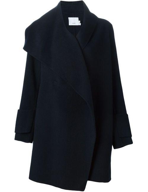 Vince | Женское Синее Асимметричное Пальто С Запахом