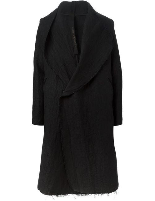 Forme D'Expression | Мужское Чёрное Пальто С Капюшоном