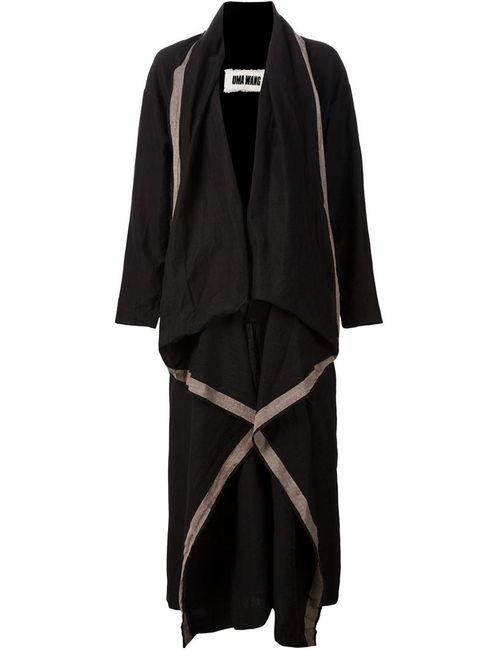UMA WANG | Женское Черный Драпированное Пальто