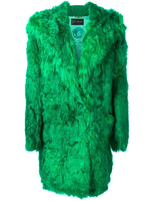 Versace   Женское Зелёный Hooded Coat