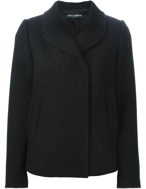 Dolce & Gabbana | Женское Чёрное Короткое Двубортное Пальто
