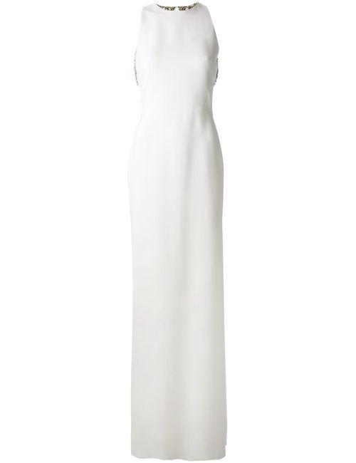 Victoria Beckham | Женское Белое Свадебное Платье С Открытой Спинкой