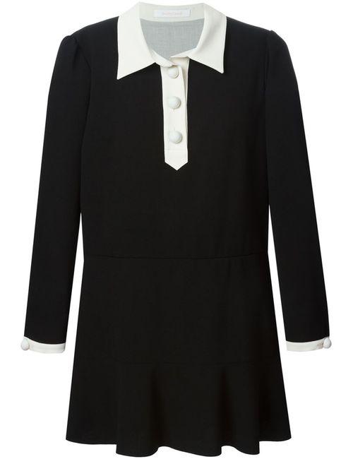 See By Chloe   Женское Чёрный See By Chloé Ruffled Hem Shirt Dress