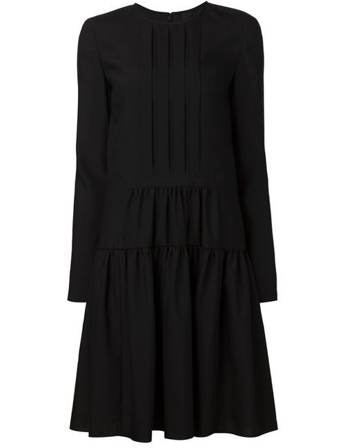 Vera Wang | Женское Чёрный Dropped Waist Longsleeved Dress