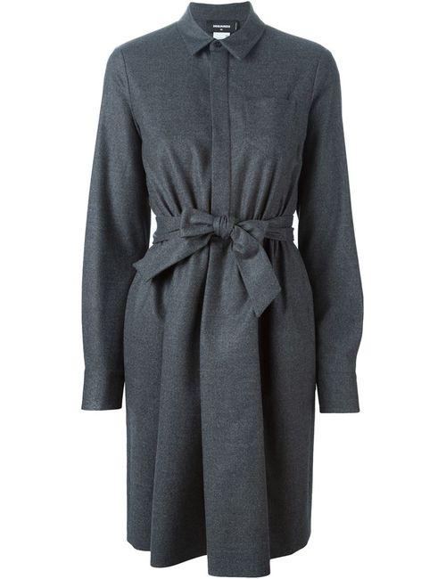Dsquared2 | Женское Серое Классическое Платье-Рубашка