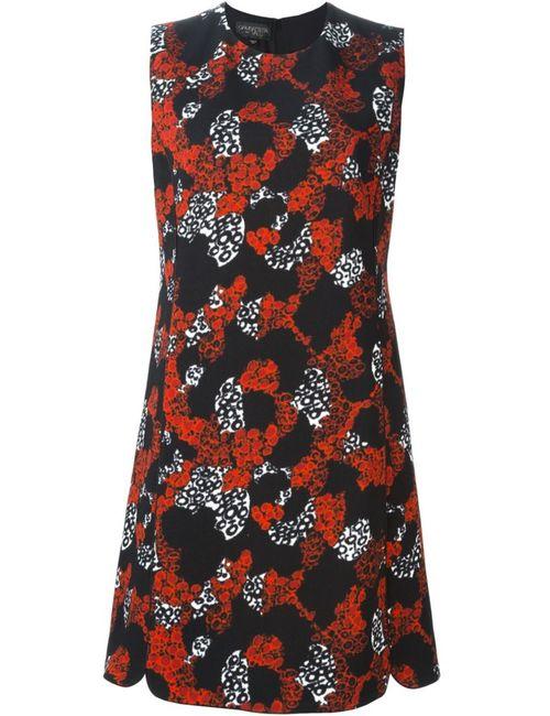 Giambattista Valli | Женское Чёрное Платье-Шифт С Цветочным Принтом