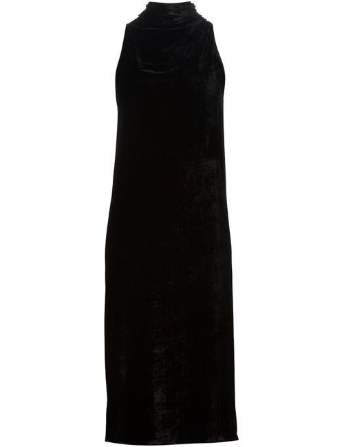 Rick Owens | Женское Чёрный Tie Neck Midi Dres
