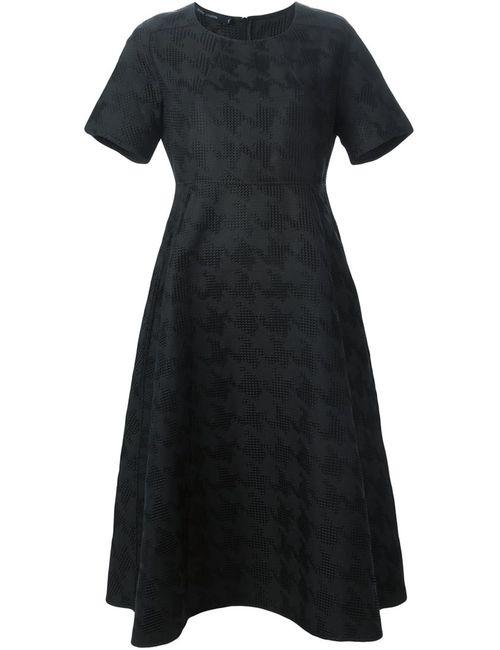 Sofie D'Hoore | Женское Чёрное Жаккардовое Платье В Ломанную Клетку