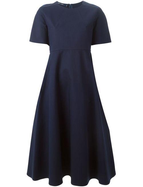 Sofie D'Hoore | Женское Синее Расклешенное Платье С Короткими Рукавами