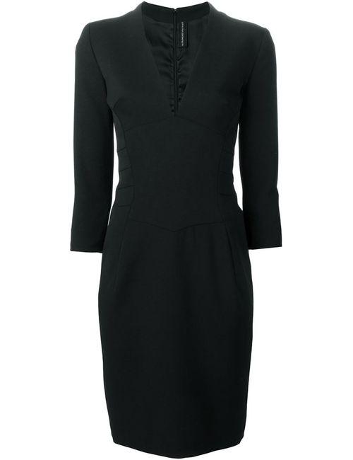 Alexandre Vauthier | Женское Чёрное Облегающее Платье С V-Образным Вырезом