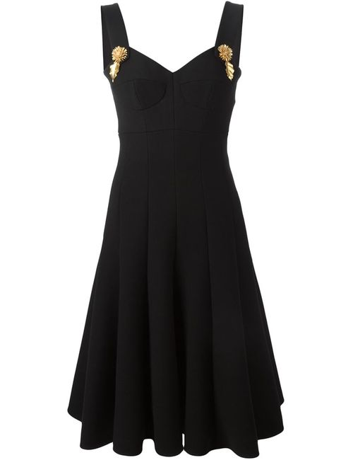 Dolce & Gabbana | Женское Чёрный Flared Pleated Hem Dress