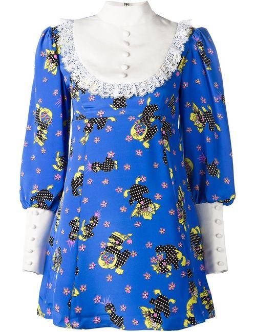 Jeremy Scott | Женское Синее Платье С Нагрудником