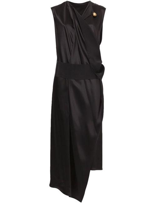 Maison Rabih Kayrouz | Женское Чёрный Draped V-Neck Dress