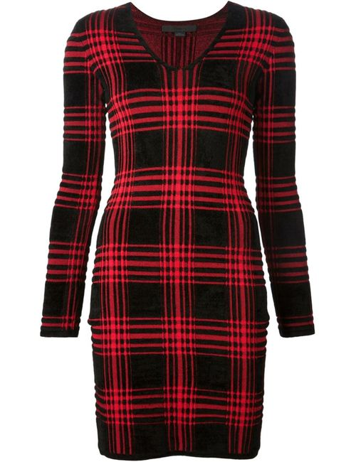 Alexander Wang | Женское Чёрное Платье В Шотландскую Клетку