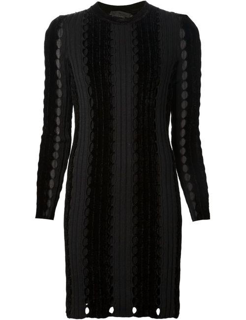 Alexander Wang | Женское Чёрное Облегающее Платье Свободной Вязки